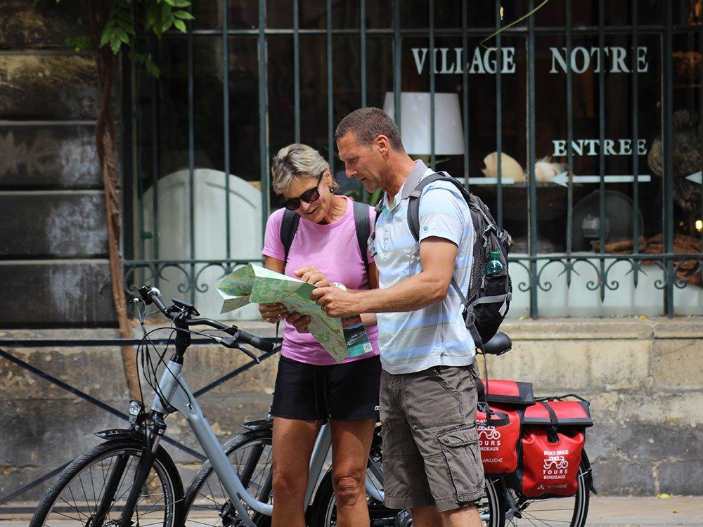 Bordeaux Francia bici e barca